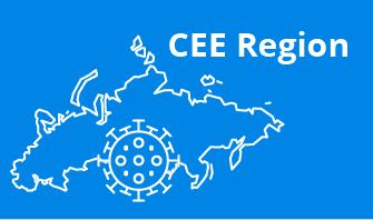 CEE region outline with blue background